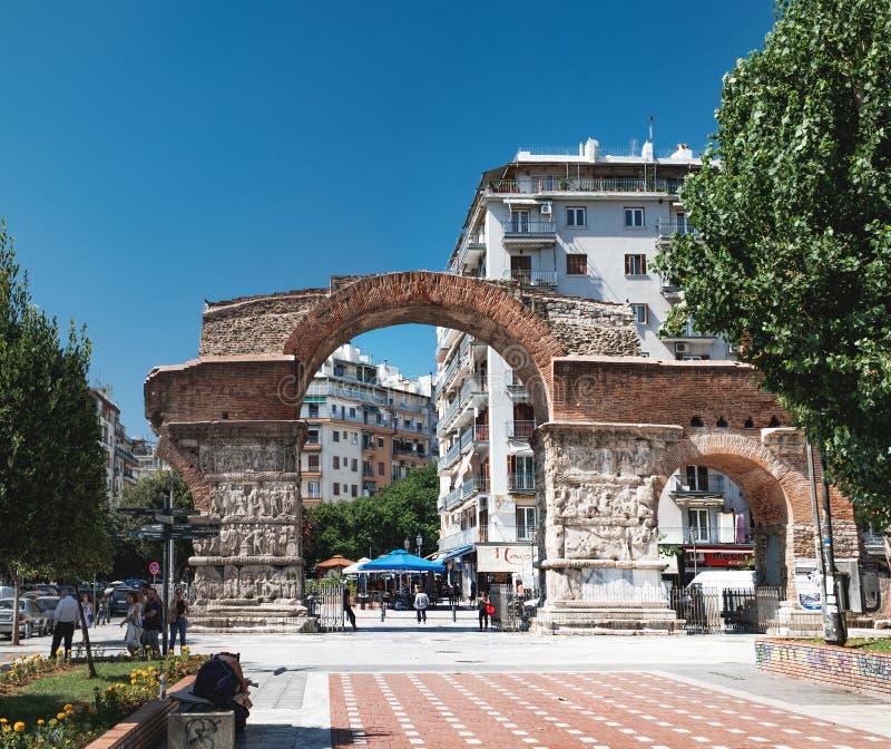 Η αψίδα Galerius σε Θεσσαλονίκη, Ελλάδα στοκ εικόνες με δικαίωμα ελεύθερης χρήσης
