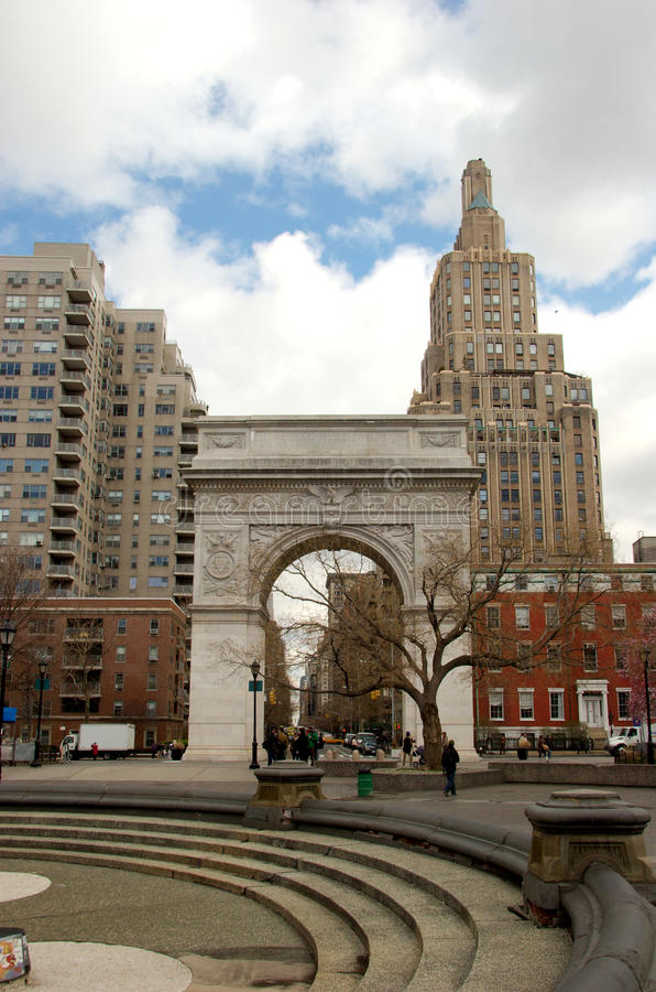 Η αψίδα στο τετραγωνικό πάρκο της Ουάσιγκτον, Greenwich Village, Μανχάταν στοκ εικόνες