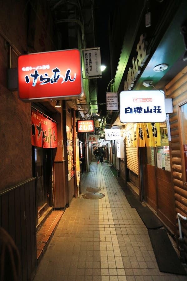 η αλέα Sapporo Ramen σε Susukino, Hokkaido στοκ εικόνα με δικαίωμα ελεύθερης χρήσης