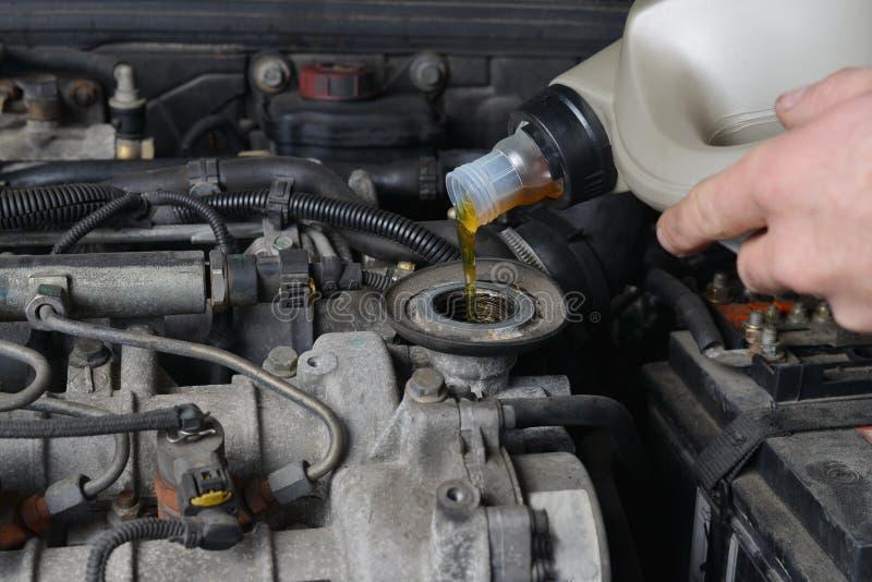 Αλλαγή πετρελαίου στοκ φωτογραφία με δικαίωμα ελεύθερης χρήσης