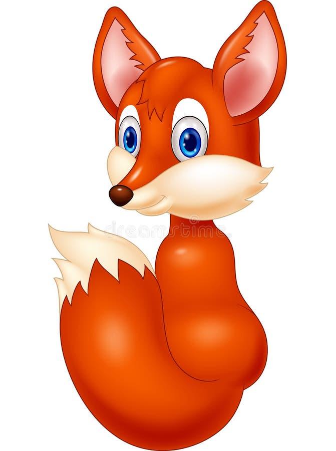 Η αλεπού μωρών κινούμενων σχεδίων ξανακοιτάζει απεικόνιση αποθεμάτων