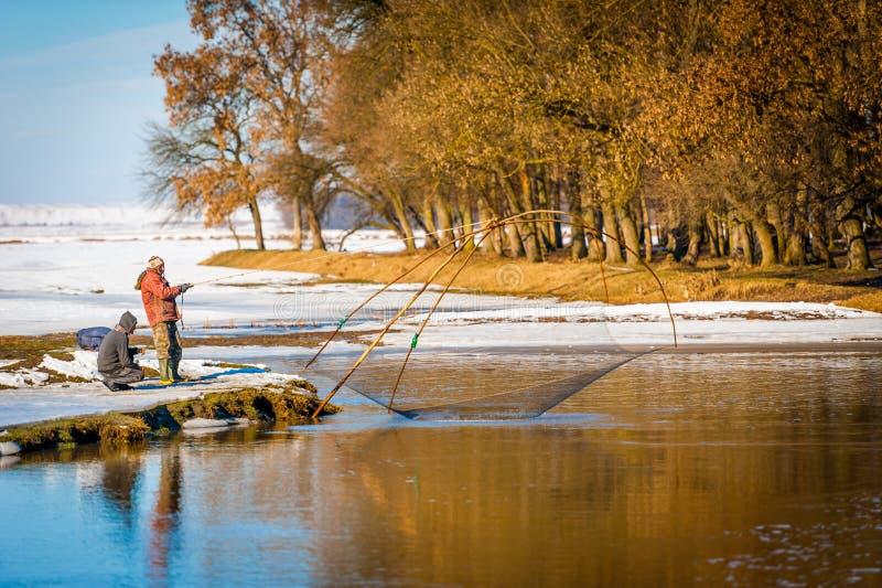η αλιεία του πάγου βρίσκεται ακριβώς παγιδευμένος χειμώνας zander στοκ φωτογραφία με δικαίωμα ελεύθερης χρήσης