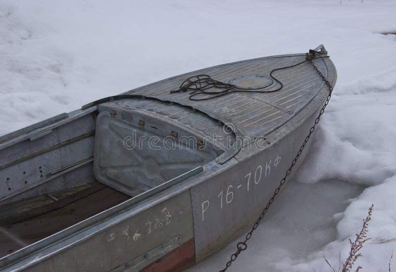 Η βάρκα επάγωσε στοκ εικόνες με δικαίωμα ελεύθερης χρήσης