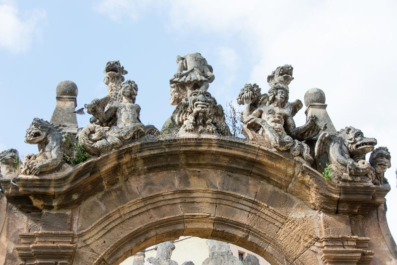 Η βίλα Palagonia σε Bagheria, Παλέρμο, Σικελία, Ιταλία Χ στοκ φωτογραφίες