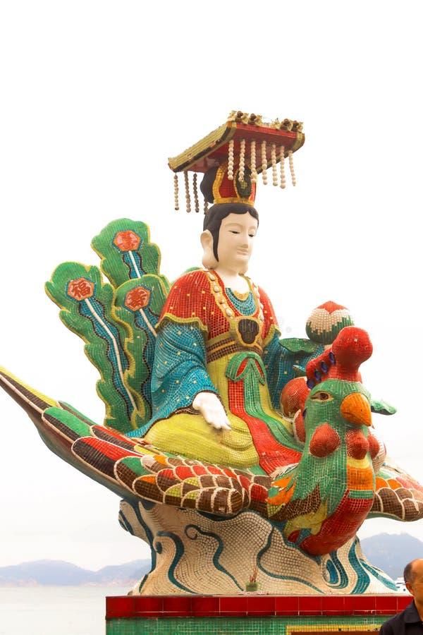 Η βασίλισσα το άγαλμα θάλασσας, ναός Hau κασσίτερου, απωθεί τον κόλπο, Χονγκ Κονγκ στοκ φωτογραφίες με δικαίωμα ελεύθερης χρήσης