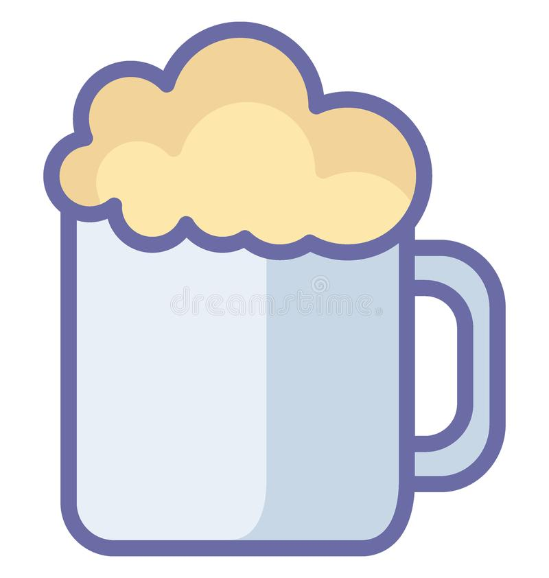 Η βασική RGB κούπα μπύρας απομόνωσε το διανυσματικό εικονίδιο που μπορεί εύκολα να τροποποιήσει ή να εκδώσει το απομονωμένο κούπα ελεύθερη απεικόνιση δικαιώματος