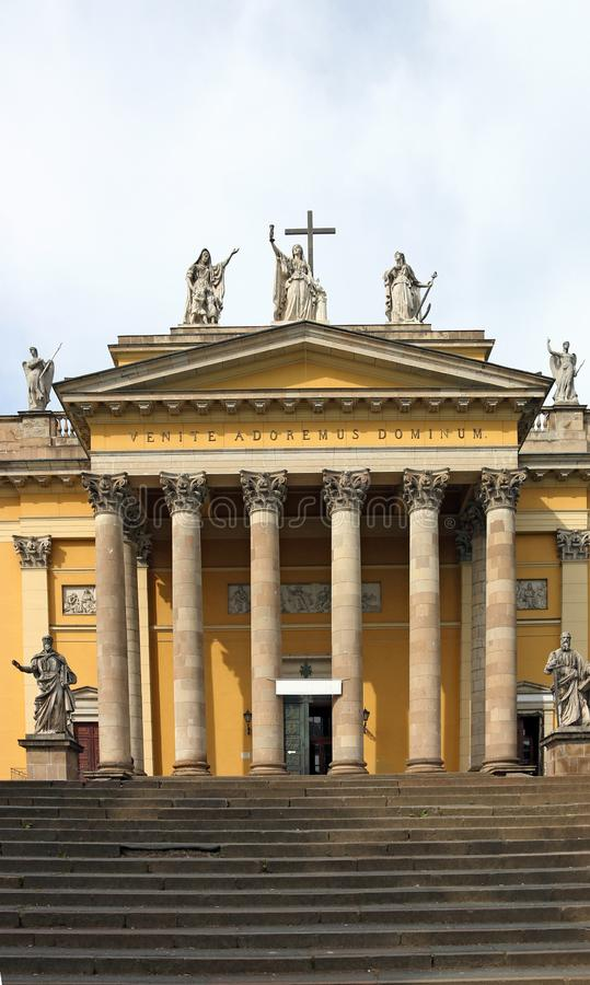Η βασιλική καθεδρικών ναών του ορόσημου Ουγγαρία εκκλησιών Eger στοκ εικόνες με δικαίωμα ελεύθερης χρήσης