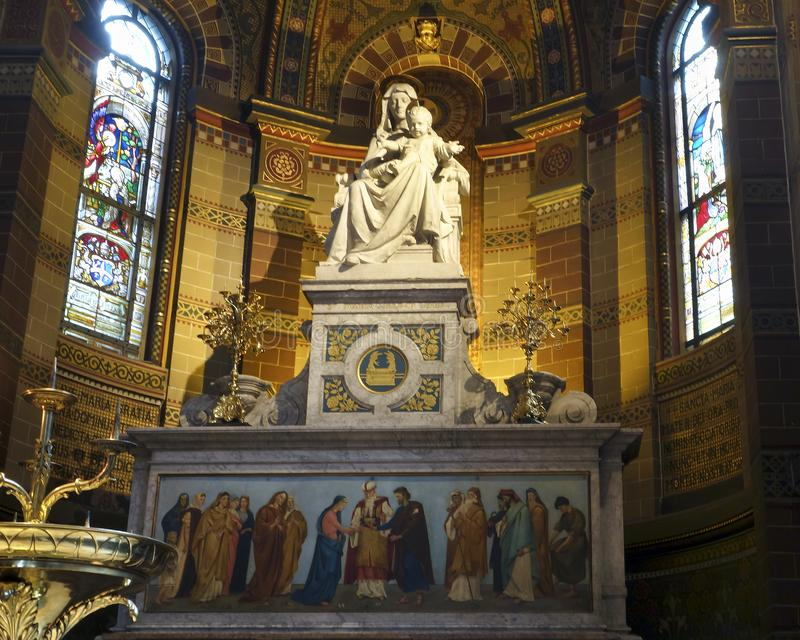 Η βασιλική του Αγίου Νικολάου, εσωτερικές λεπτομέρειες στοκ φωτογραφία