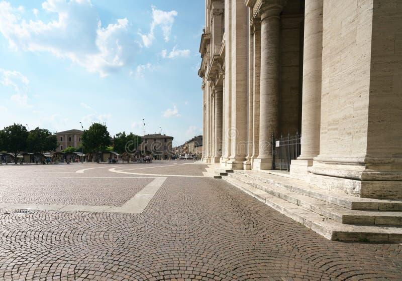 Η βασιλική του degli Angeli της Σάντα Μαρία στοκ φωτογραφία