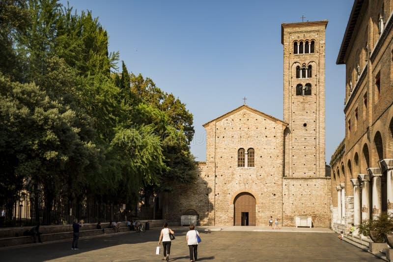 Η βασιλική του SAN Francesco στη Ραβένα στοκ εικόνα