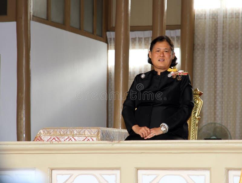 Η βασιλική πριγκήπισσα Maha Chakri Sirindhorn Highness παρευρίσκεται στο νεκρικό sinlapa-α-Cha Chumphon στο ναό Thepsirin στοκ φωτογραφίες
