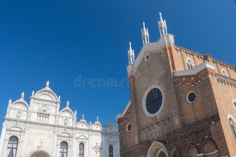 Η βασιλική Di SAN Giovanni ε Paolo και και το Scuole Grandi στοκ εικόνες