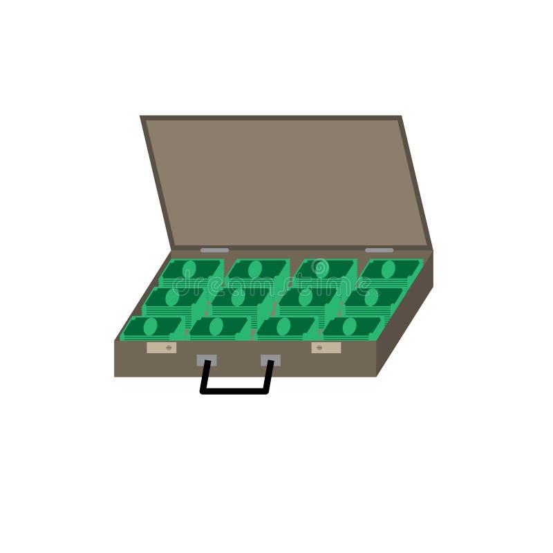 Η βαλίτσα με τα χρήματα απεικόνιση αποθεμάτων