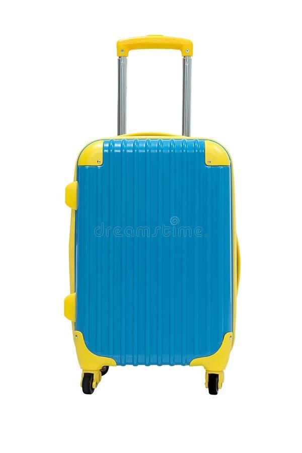 Η βαλίτσα ταξιδιού απομονώνει στο λευκό στοκ εικόνες