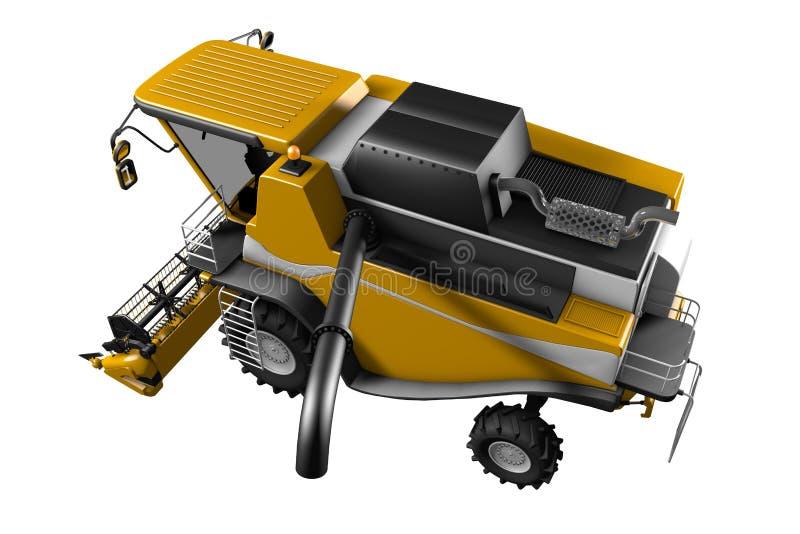 Η βιομηχανική τρισδιάστατη απεικόνιση της μεγάλης πορτοκαλιάς σίκαλης CG γεωργικής συνδυάζει τη θεριστική μηχανή με την αποσυνδεμ διανυσματική απεικόνιση