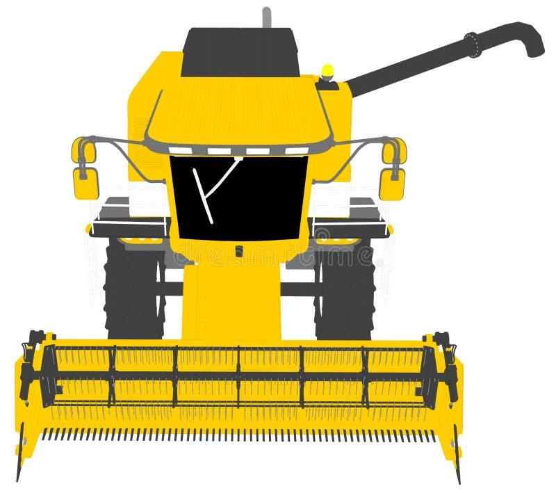 Η βιομηχανική τρισδιάστατη απεικόνιση των κινούμενων σχεδίων χρωμάτισε το τρισδιάστατο πρότυπο της πορτοκαλιάς αγροτικής θεριστικ ελεύθερη απεικόνιση δικαιώματος