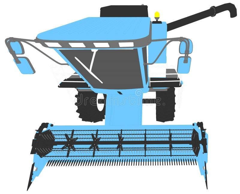 Η βιομηχανική τρισδιάστατη απεικόνιση των κινούμενων σχεδίων χρωμάτισε το τρισδιάστατο πρότυπο της σίκαλης συνδυάζει τη θεριστική απεικόνιση αποθεμάτων