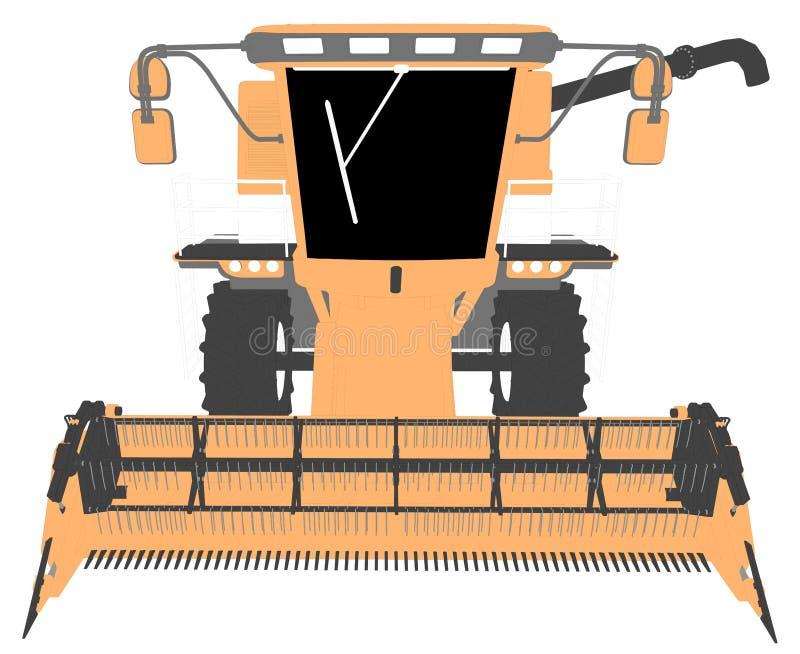 Η βιομηχανική τρισδιάστατη απεικόνιση των κινούμενων σχεδίων χρωμάτισε το τρισδιάστατο πρότυπο της πορτοκαλιάς γεωργικής θεριστικ ελεύθερη απεικόνιση δικαιώματος