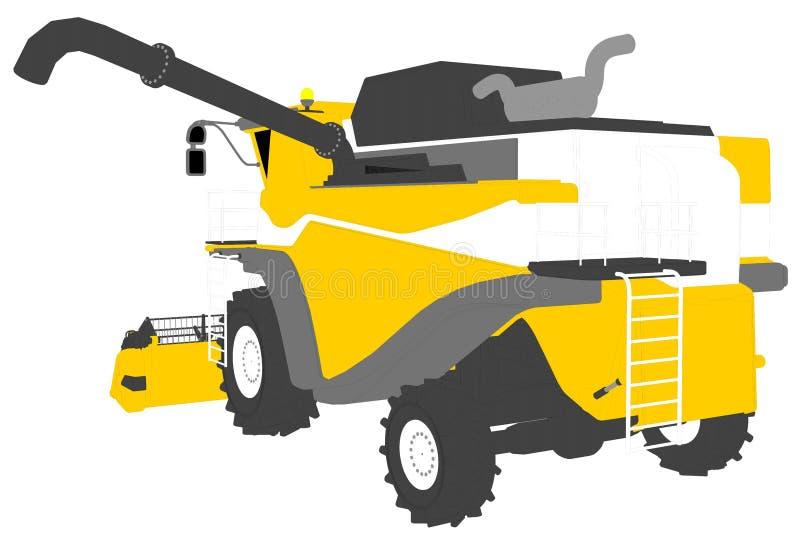 Η βιομηχανική τρισδιάστατη απεικόνιση των κινούμενων σχεδίων χρωμάτισε το τρισδιάστατο πρότυπο της πορτοκαλιάς θεριστικής μηχανής απεικόνιση αποθεμάτων