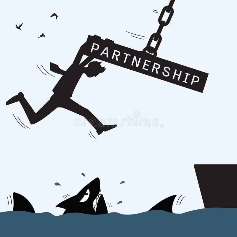Η βοήθεια συνεργασίας και επιζεί ελεύθερη απεικόνιση δικαιώματος
