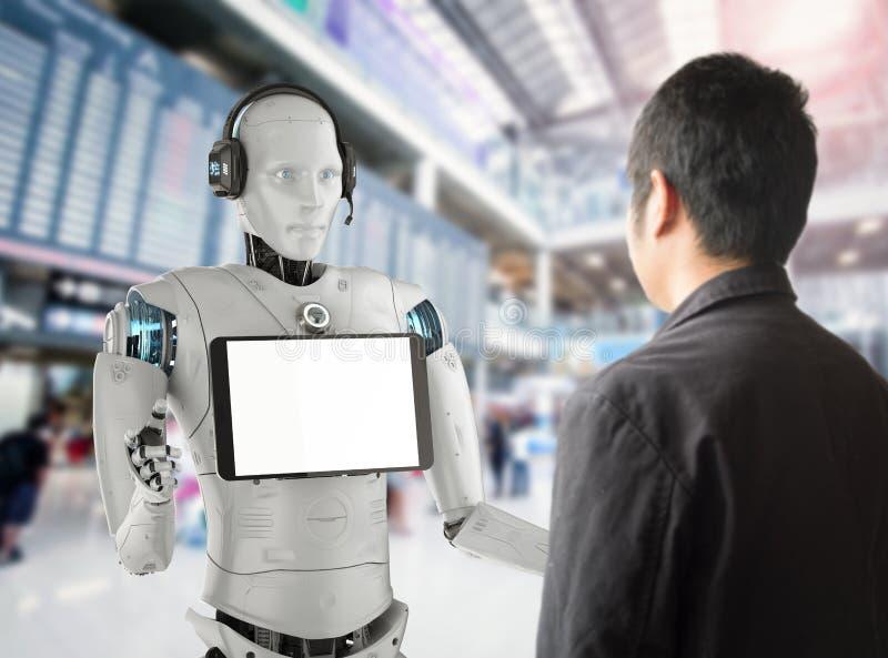 Βοηθητική έννοια ρομπότ στοκ εικόνες με δικαίωμα ελεύθερης χρήσης