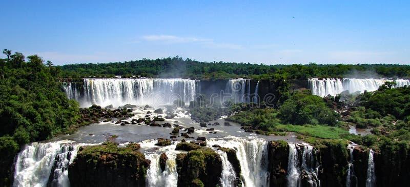Η βραζιλιάνα πλευρά του Iguazu πέφτει, Foz κάνετε Iguacu, Βραζιλία στοκ φωτογραφία με δικαίωμα ελεύθερης χρήσης