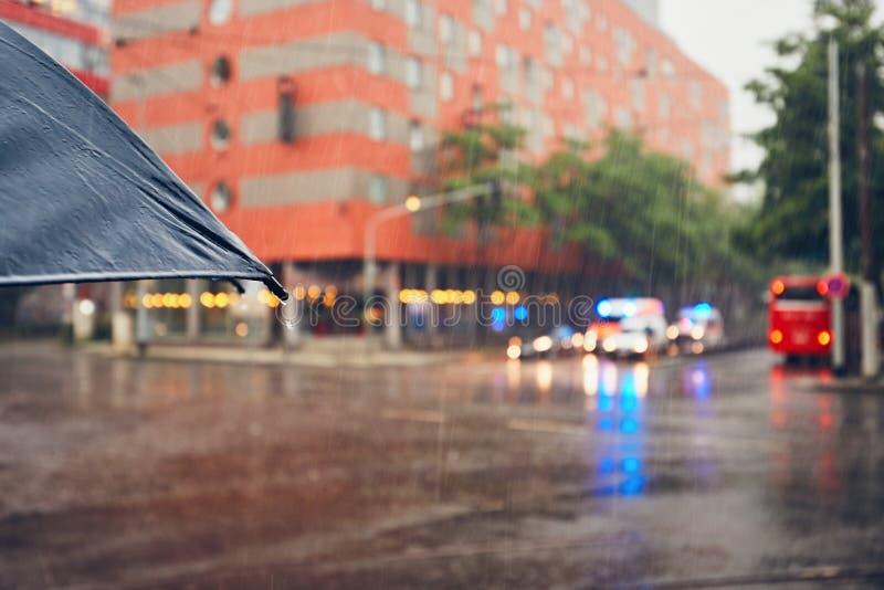 η βροχή Σύδνεϋ φωτογραφιών πόλεων της Αυστραλίας nsw πήρε στοκ φωτογραφία