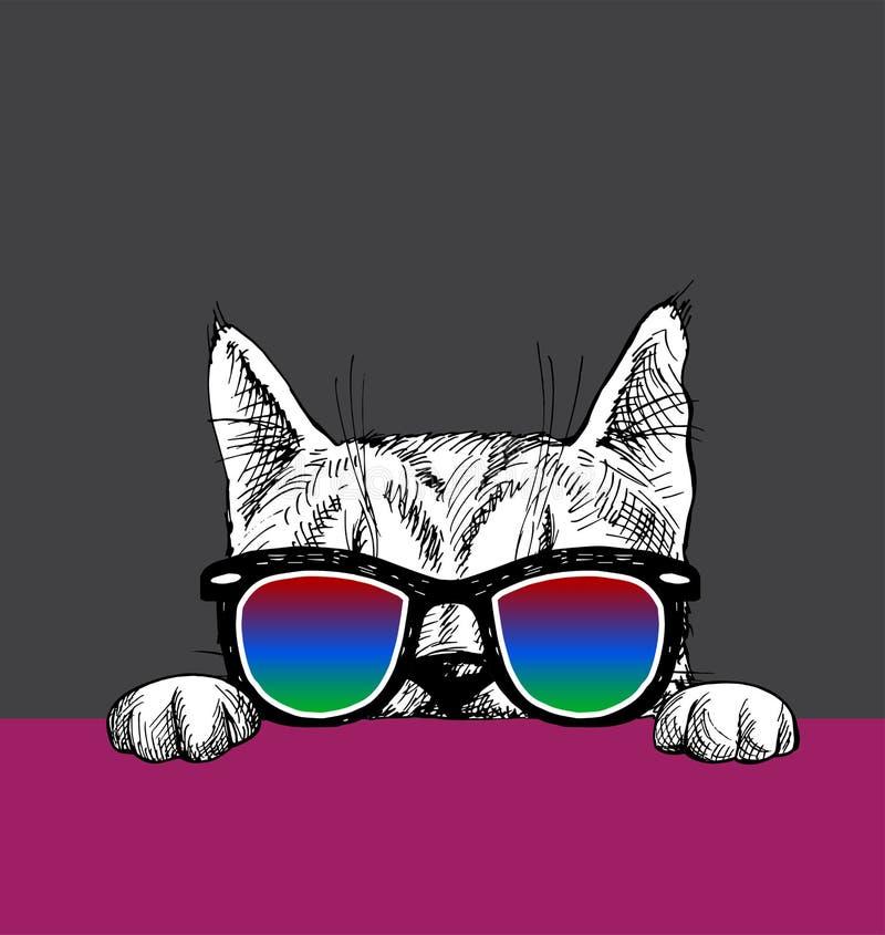 Η γάτα κοιτάζει έξω απεικόνιση αποθεμάτων