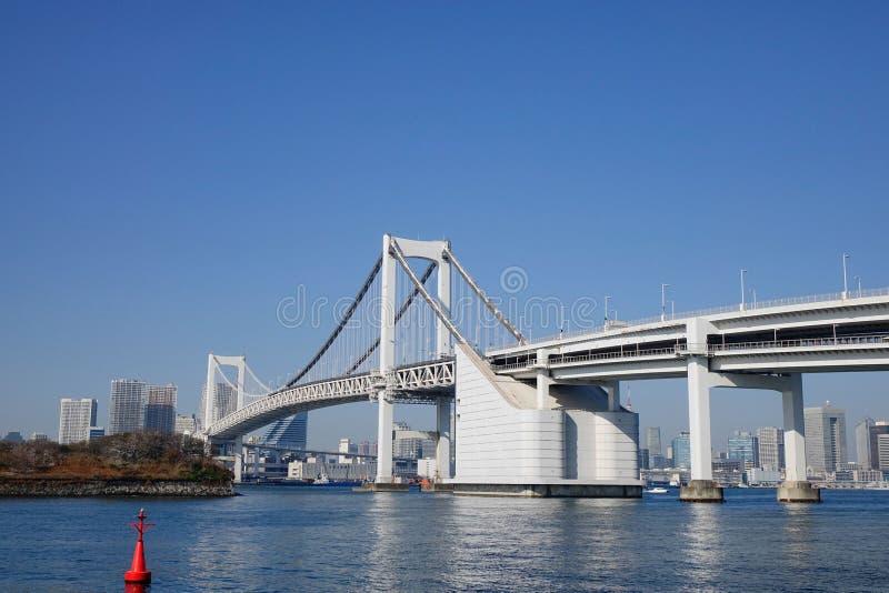 Η γέφυρα ουράνιων τόξων στο Τόκιο, Ιαπωνία στοκ εικόνες