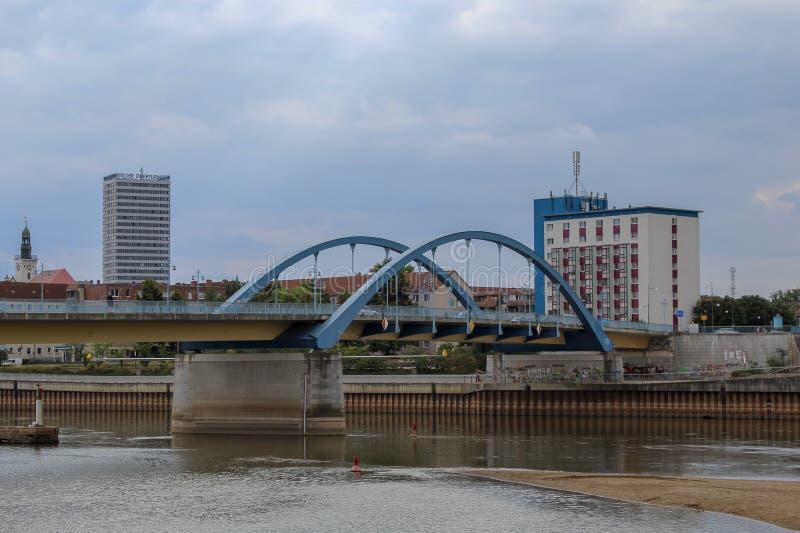 Η γέφυρα πόλεων της Φρανκφούρτης Oder, Βραδεμβούργο, Γερμανία στοκ εικόνες με δικαίωμα ελεύθερης χρήσης
