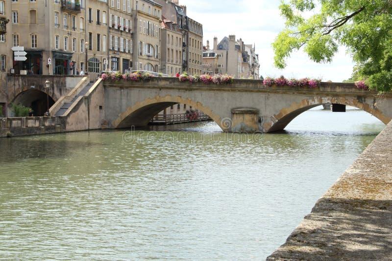 Η γέφυρα στο Μετς, Γαλλία στοκ φωτογραφίες με δικαίωμα ελεύθερης χρήσης
