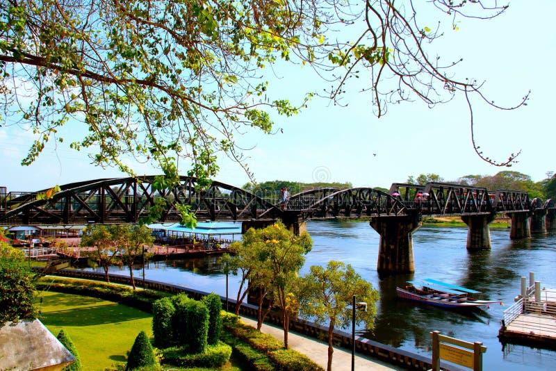 Η γέφυρα του kwai ποταμών στοκ φωτογραφία