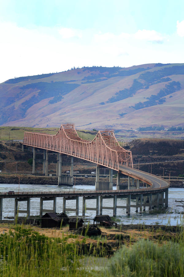 Η γέφυρα Dalles στοκ φωτογραφία