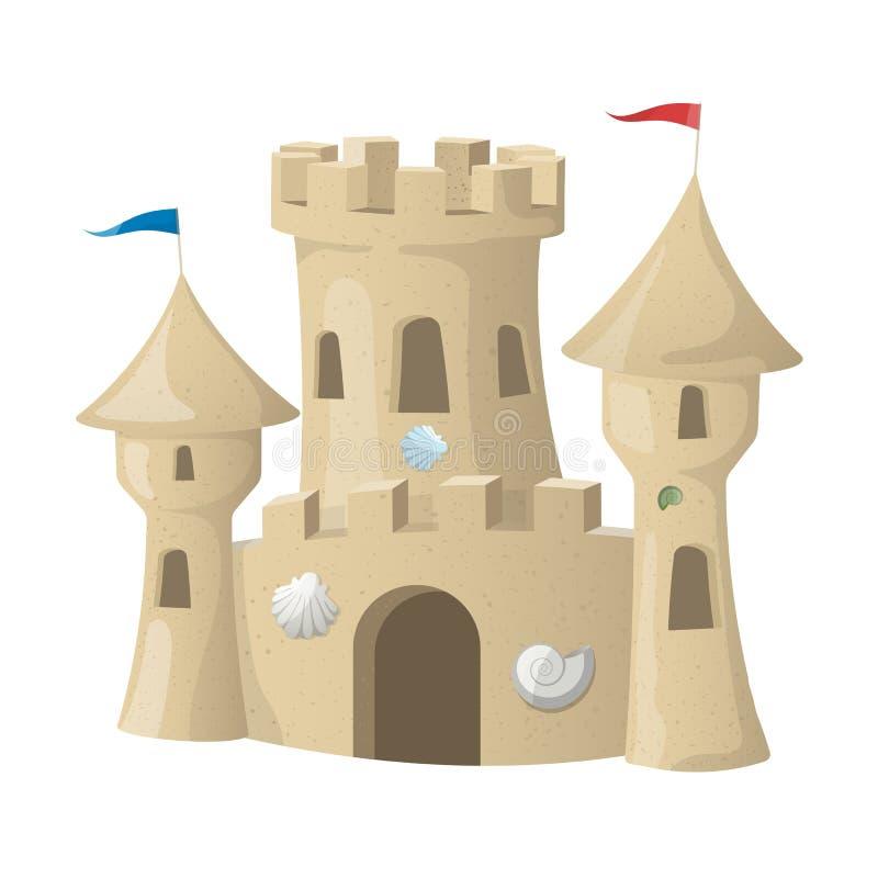 η γίνοντη κάστρο άμμος παραλιών σμιλεύει τη μορφή επίσης corel σύρετε το διάνυσμα απεικόνισης διανυσματική απεικόνιση