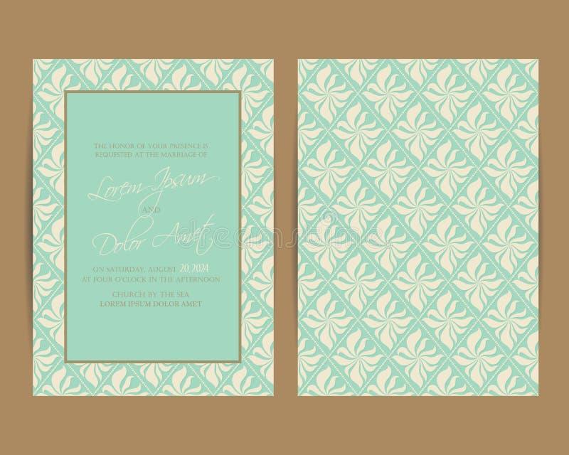 Η γαμήλια πρόσκληση και σώζει τις κάρτες ημερομηνίας απεικόνιση αποθεμάτων