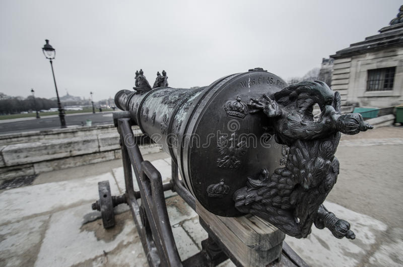 Η γαλλική Canon στοκ εικόνες με δικαίωμα ελεύθερης χρήσης