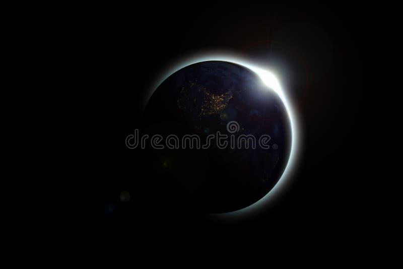 Η γη καλύπτει τον ήλιο σε μια όμορφη ηλιακή έκλειψη στοκ φωτογραφία με δικαίωμα ελεύθερης χρήσης