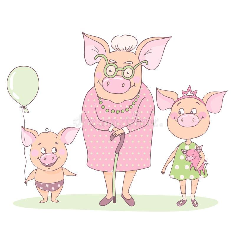 Η γιαγιά χοίρων με ελεύθερη απεικόνιση δικαιώματος