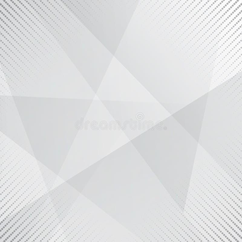 Η γκρίζα και άσπρη αφηρημένη γεωμετρία υποβάθρου λάμπει και στρώμα elem ελεύθερη απεικόνιση δικαιώματος