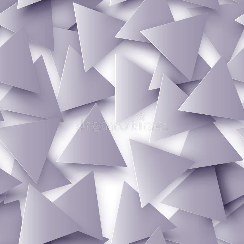Η γκρίζα χρωματισμένη αφηρημένη polygonal γεωμετρική άνευ ραφής σύσταση, τρισδιάστατο υπόβαθρο τριγώνων Τριγωνικό υπόβαθρο μωσαϊκ διανυσματική απεικόνιση