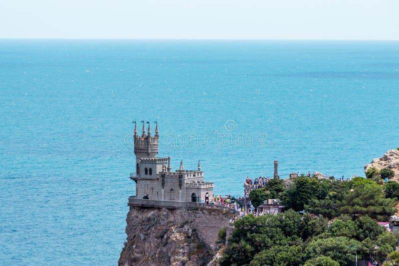Η γνωστή Swallow's κάστρων φωλιά κοντά σε Yalta Κριμαία στοκ εικόνα