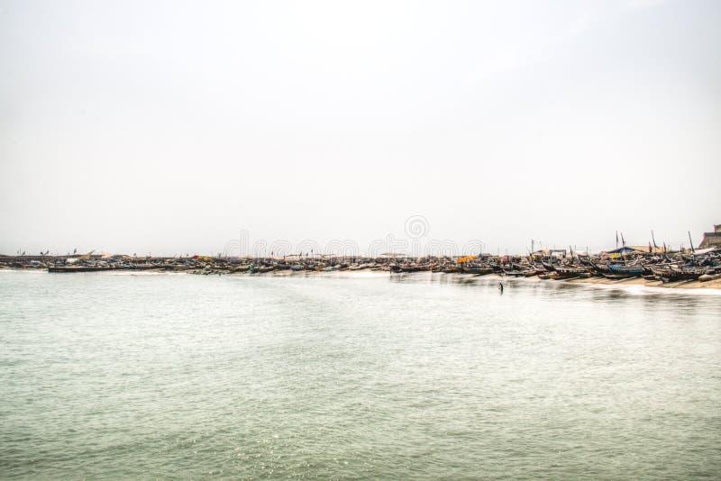 Η γραμμή ακτών Jamestown, Άκρα, Γκάνα στοκ φωτογραφία με δικαίωμα ελεύθερης χρήσης