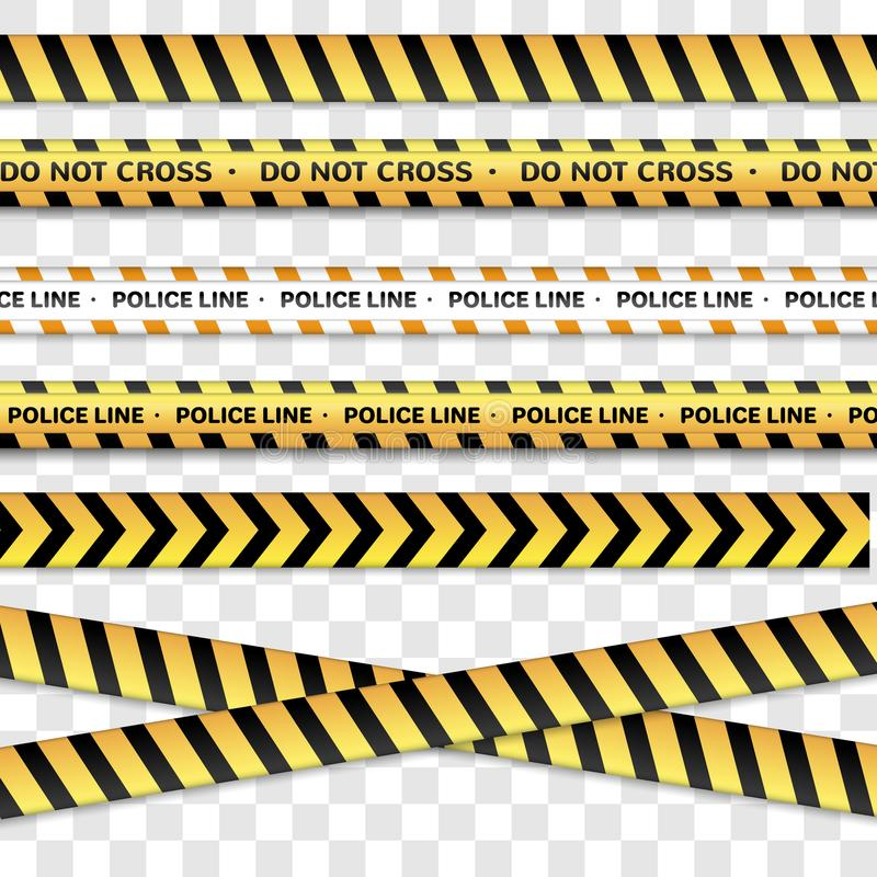 Η γραμμή αστυνομίας και δεν διασχίζει, να προειδοποιήσει τις γραμμές που προειδοποιούν τις ταινίες Σημάδια κινδύνου που απομονώνο απεικόνιση αποθεμάτων