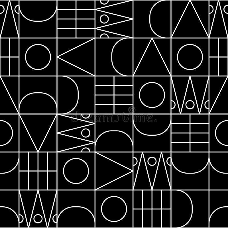 Η γραμμή διαμορφώνει το άνευ ραφής διανυσματικό γεωμετρικό σχέδιο απεικόνιση αποθεμάτων