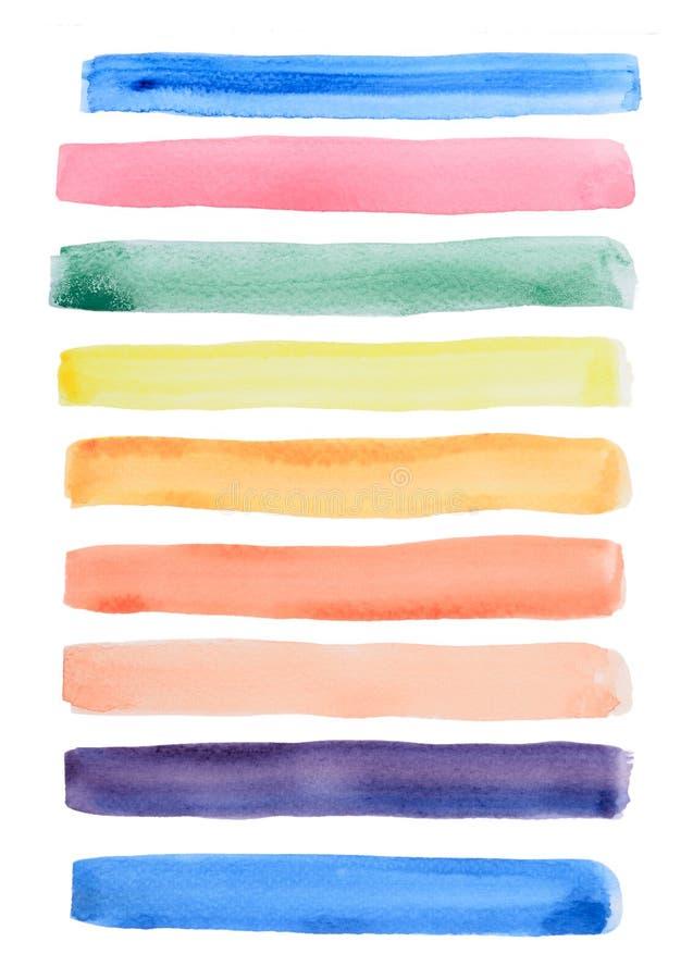 Η γραμμή Watercolor σύρει απεικόνιση αποθεμάτων