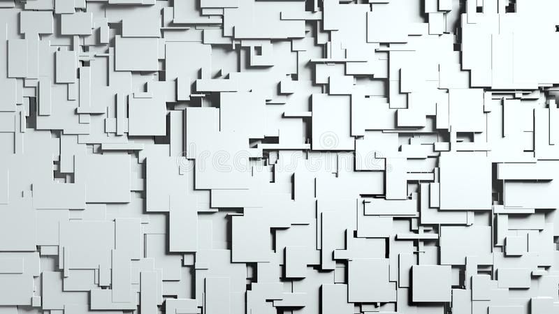 Η γραπτή οθόνη κύβων σκουπίζει τη μετάβαση διανυσματική απεικόνιση