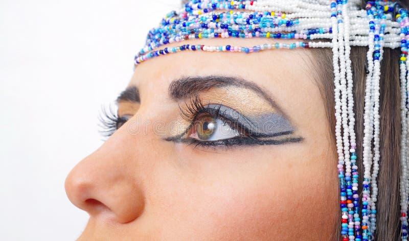 Η γυναίκα με Αιγύπτιο κοιτάζει στοκ φωτογραφίες με δικαίωμα ελεύθερης χρήσης