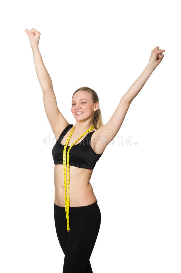 Η γυναίκα στην αθλητική έννοια στοκ εικόνα με δικαίωμα ελεύθερης χρήσης