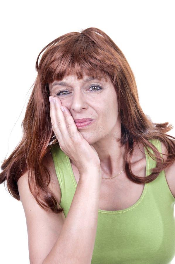 Η γυναίκα στον πόνο έχει τον πονόδοντο στοκ φωτογραφίες με δικαίωμα ελεύθερης χρήσης