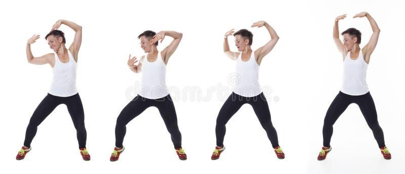 Η γυναίκα στο στούντιο, κολάζ στοκ εικόνες με δικαίωμα ελεύθερης χρήσης